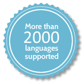 More than 2000 languages supported