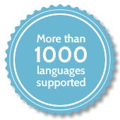 More than 1000 languages supported