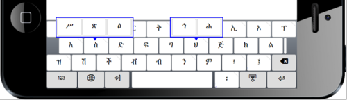 Touch layout for Amharic Keyboard